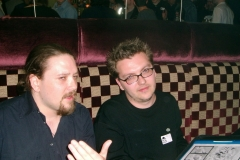 on the right, Christian Dunn - editor of Warhammer Monthly